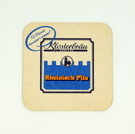 Amsterdam, the Netherlands - March 8, 2019: 1980's vintage Klosterbrau beer mat or coaster. Stockfoto - 122440707