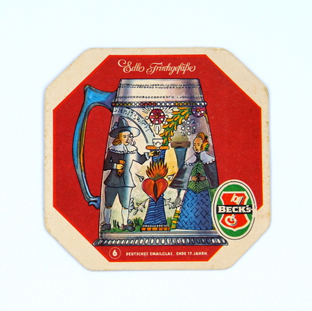 Amsterdam, the Netherlands - March 7, 2019: Beck's beer coaster. Stockfoto - 122440897
