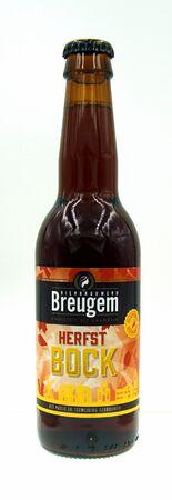 Amsterdam, the Netherland - September 24, 2019: Bottle of Breugem Autumn Bock, a Dunkler Bock styled beer brewed by Brouwerij Anders!