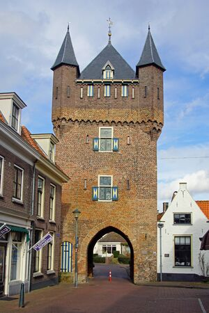 Hattem, the Netherlands - February 20, 2020: The Dijkpoort, citygate of the Dutch city of Hattem.