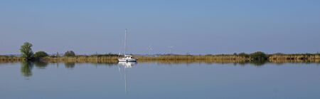 Panoramic view of Pampushaven, Almere, the Netherlands. Stock Photo