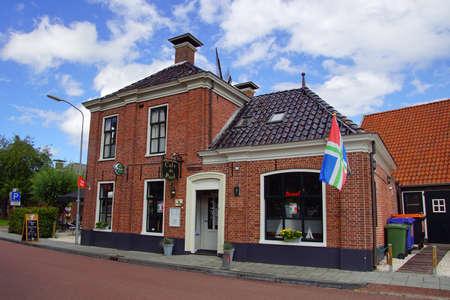 Eenrum, the Netherland - July 15, 2020: Grand Cafe De Pool in the Dutch town of Eenrum.