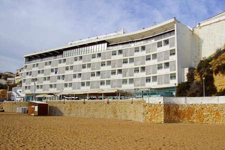 Albufeira, Portugal - December 25, 2019: Hotel Sol a Mar at Albufeira beach. Editorial