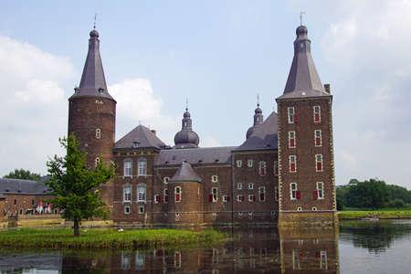 Hoensbroek, the Netherland - July 22, 2021: Backside of Hoensbroek Castle (Dutch: Kasteel Hoensbroek), one of the largest castles in the Netherlands. Editorial