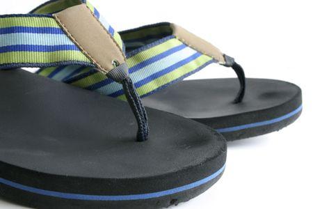 flops: Summer flip flops Stock Photo