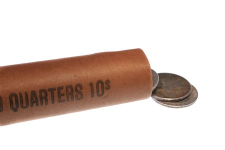 25 cents: roll of quarters