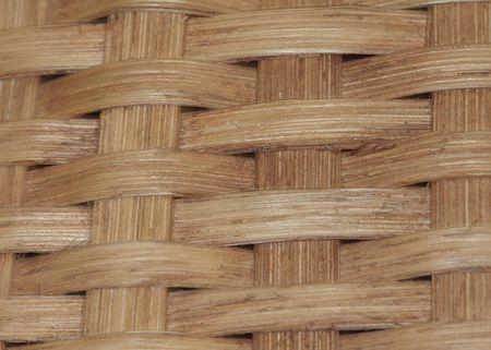 Macro imagae - woven wooden basket