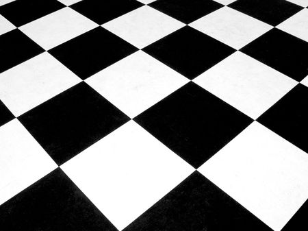 Black and white checkerboard pattern 版權商用圖片