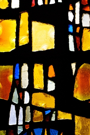 window: Abstract image of stained glass church window
