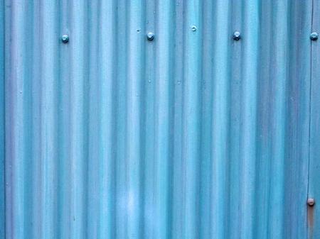 Blue corrugated tin background