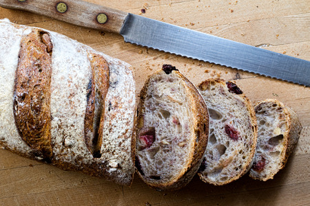 Cranberry Walnut Brood Stockfoto