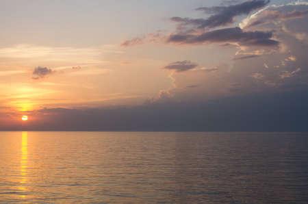 Beautiful sunset Baltic Sea. sunset with background sunset. Painting Sea sunset. The sea at sunset.
