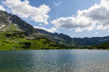 Valley of 5 polish ponds in Tatra mountains.