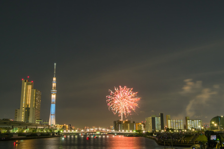 Firework Festival in Tokyo at sumida river,July 30,2016