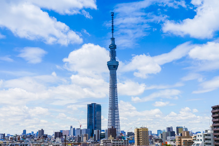 Cloudy skies with Tokyo sky tree