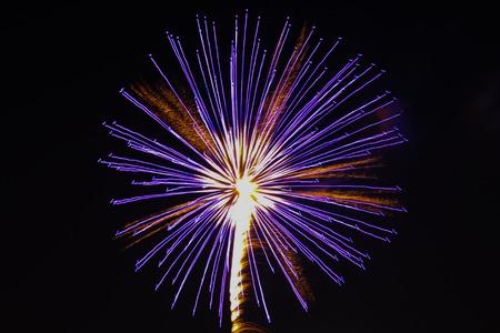 hanabi: Close up of Japanese Fireworks in summer festival