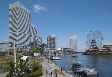Cityscape at Minatomirai 21 in Yokohama,Japan-5th May 2017