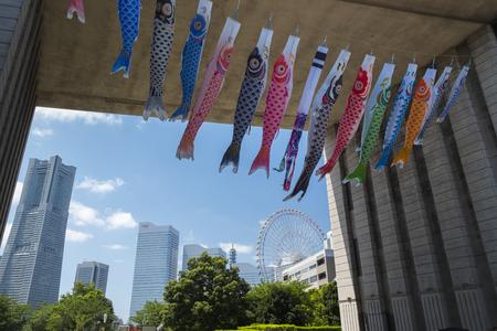 Japanese Boys Day Festival at Minatomirai 21 in Yokohama,Japan-5th May 2017