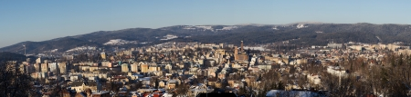 Panorama of Jablonec nad Niso Stock Photo