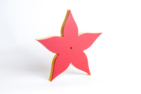 cnc: Some playstic red and yellow flower made by cnc on the playtec material
