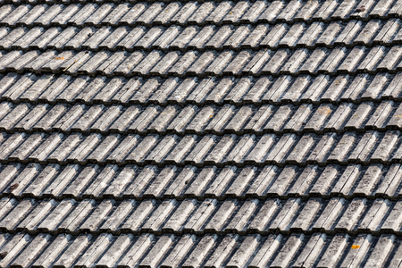 Old wooden roof background pattern or abstract with grey color Stock Photo