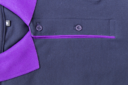 Polo shirt in black and violet color photo
