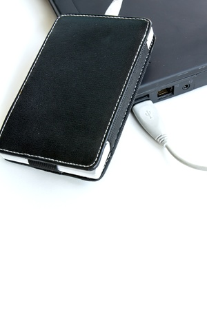 External hard drive in black case Stock Photo - 17434574