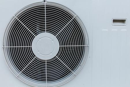 エアコンのクローズ アップ ユニット 写真素材