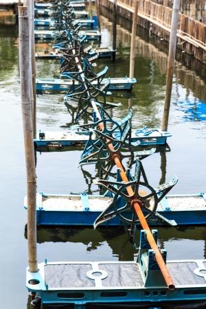 water turbine: Water turbine when stop running Stock Photo