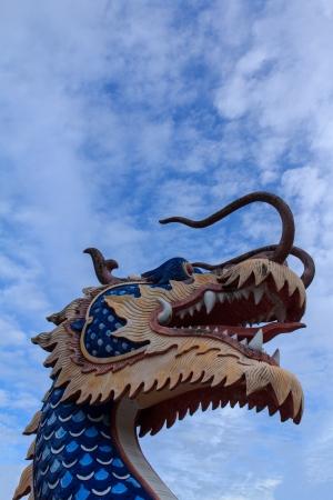 naga china: Thai dragon or king of Naga statue