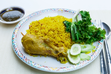 mea: Chicken Rice Curry With Coconut or Koa Mook Gai