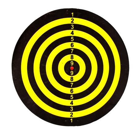 Dart board isolated on white background photo