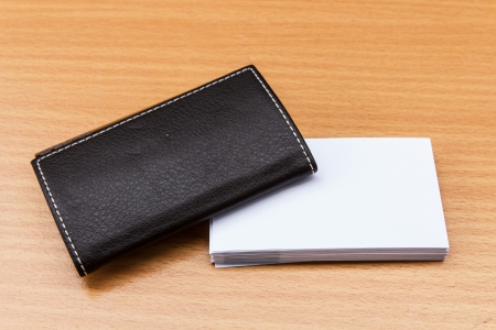 plain stitch: Leather case for name card