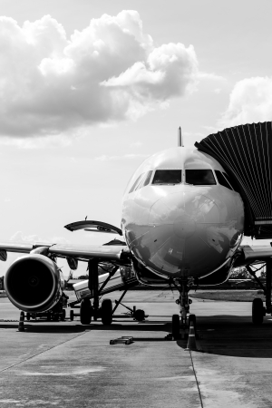 Airplane prepare for flight at the air port photo