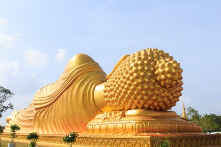 Backside of statue buddha in Songkhla province, Thailand photo