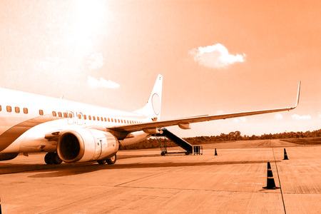 Airplane at the air port photo