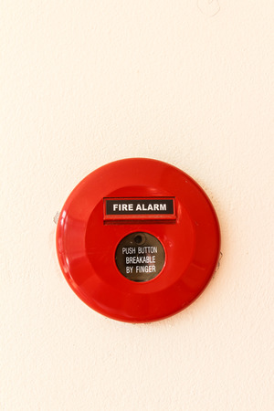 fire alarm on the wall building photo