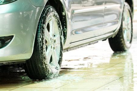 Car when washing in the carwash Editorial
