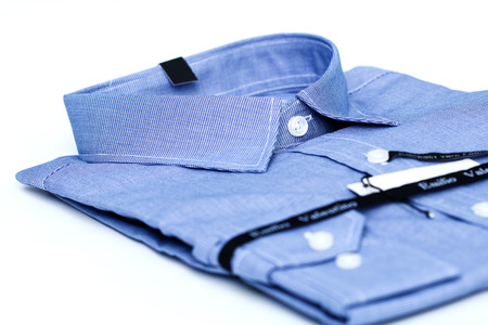 dressy: Close-up of mens shirts Isolated