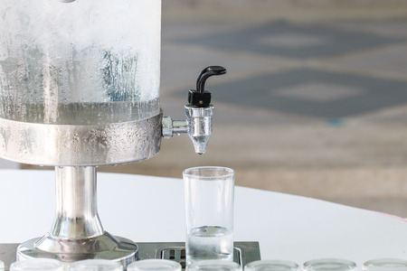 drinkable: Cooler for cold water drink with glass
