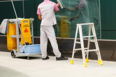 Cleaner avec nettoyage en cours