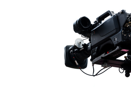 high definition: High Definition TV camera isolated in white background