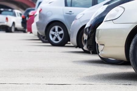 Parkeren op parkeerplaats Stockfoto - 48826061