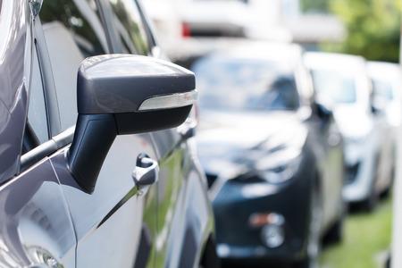 multi story car park: Car parking in line on daytime