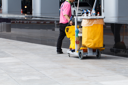 cleaning service: Worker service cleaning with janitorial  interior of building