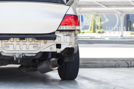 oncept: Close up photo of car accident Stock Photo
