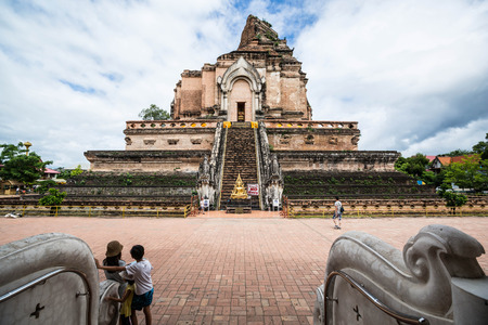verry: pagoda  at  wat jedeeloung in Chiangmai tourist like verry much