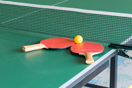 Equipment for table tennis - racket, ball, table, net