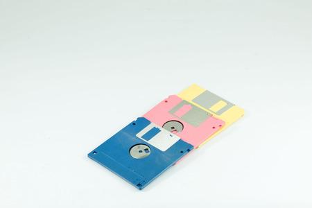 floppy: Floppy disk and floppy disk drive Stock Photo