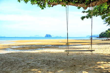 beach and sea in thailand Stock Photo